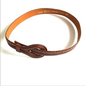 VTG vintage S Brown belt leather 90s 80s